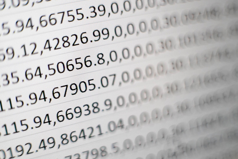Numbers on a page in article about how unit trusts are priced.