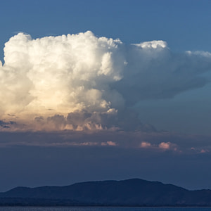 Gathering clouds over Lake Malawi