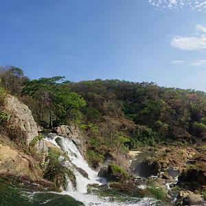 A 360 degree view of Dwambasi Falls in Malawi