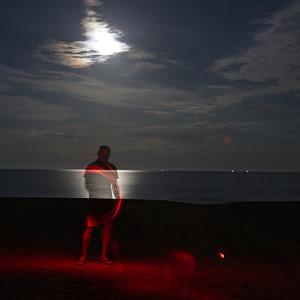 Light painting on Ngala beach