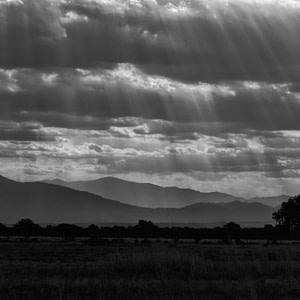 Streaming sunlight over Mikumi National Park