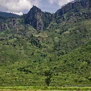 Mountainous region towards Arusha, Tanzania
