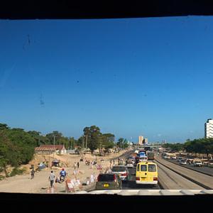 The endless traffic into Dar es Salaam