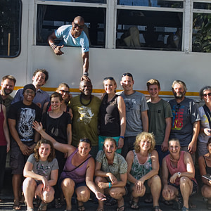 The Nomad travel group on the East Africa trip