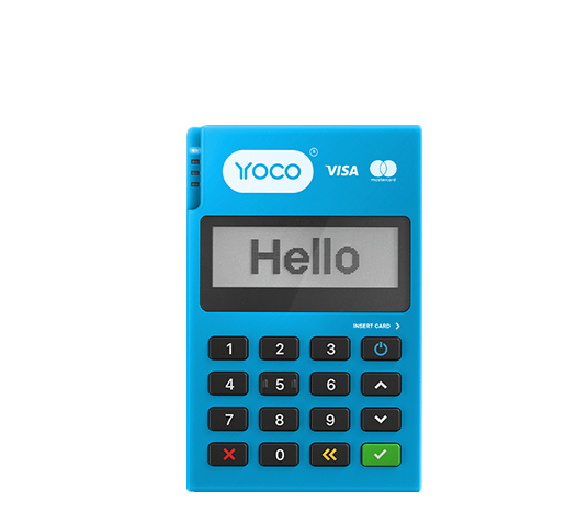 The Yoco Go card machine.